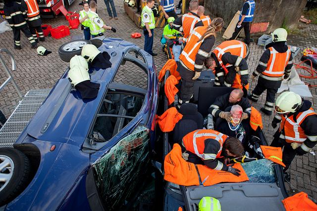 Respect voor hulpverleners  (foto cc Hugo Janssen)